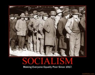 socialism-making everyone equally poor