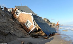 House destroyed in a storm